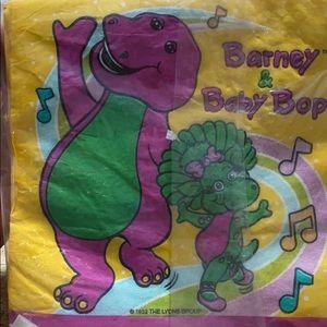 Vintage Barney &Baby Bop Napkins